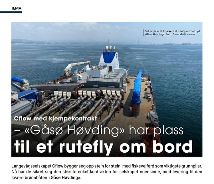 Skipsrevyen - artikkel om Gåsø Høvding 082021
